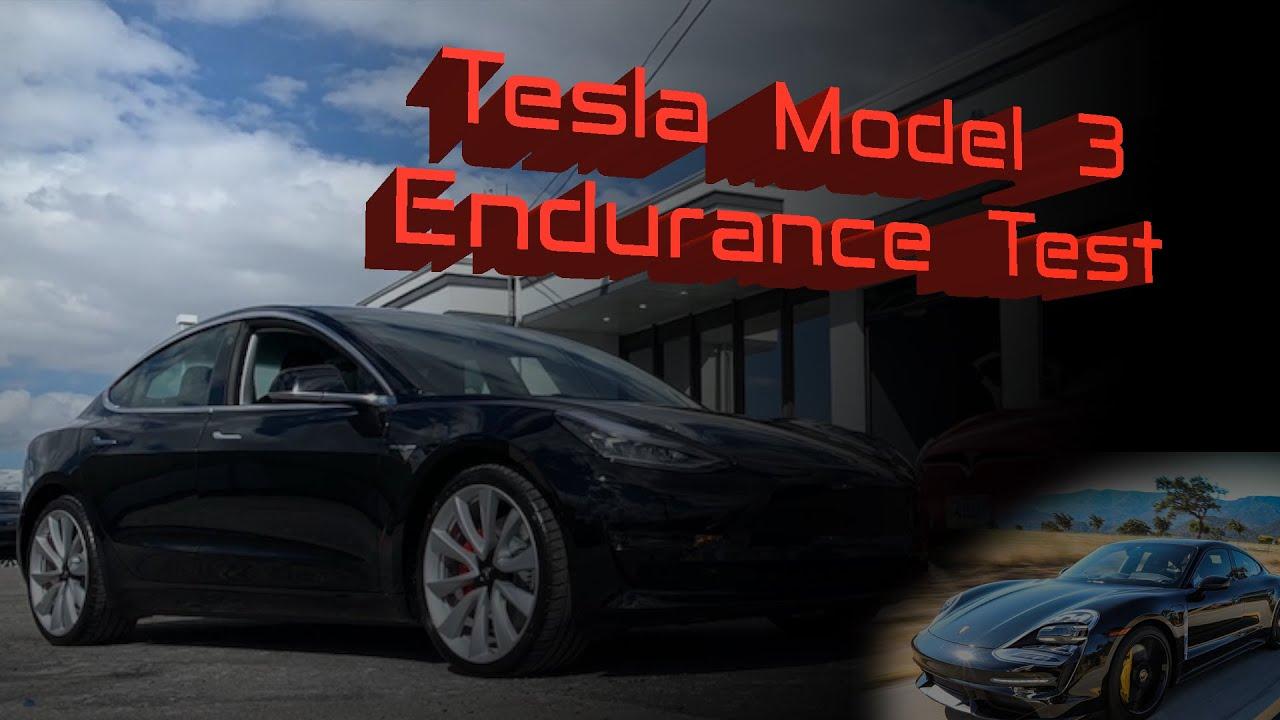 Tesla Model 3 Endurance Test, as good as Porsche Taycan?