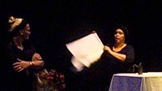 El movimiento continuo -escena doña pepa y marietta- Teatro, 2012