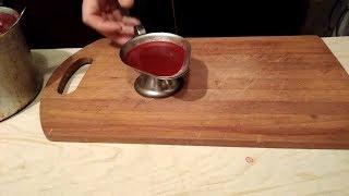 Как приготовить вкусный брусничный соус, отлично подходит к любому мясу.