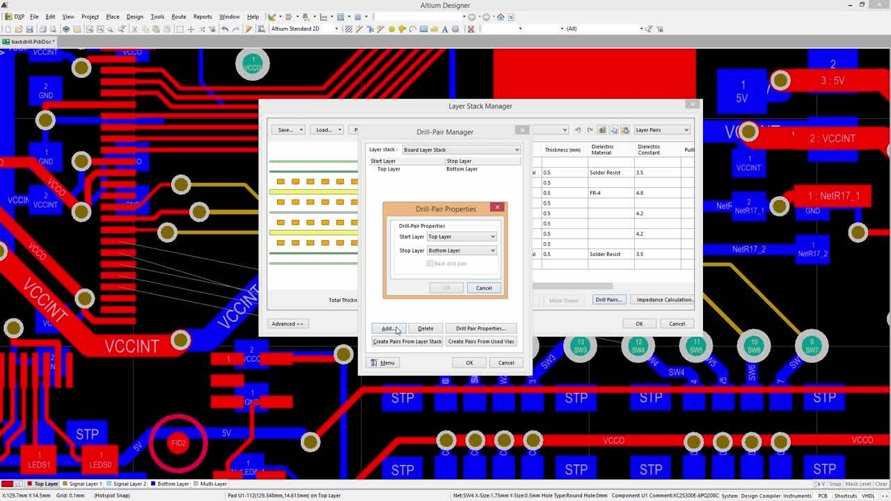 Altium Designer 17 Feature Preview: Backdrilling