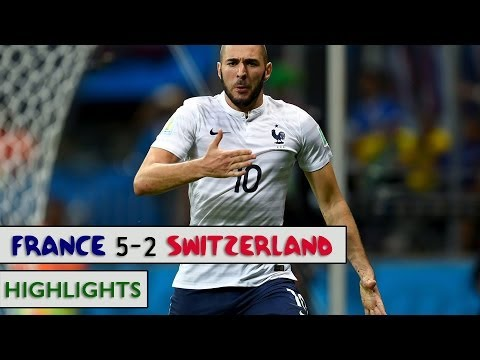 France vs Switzerland 5-2 : Full Match HIGHLIGHTS - FIFA WORLD CUP 2014