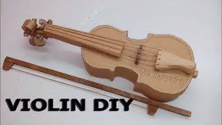Cách làm cây đàn VIÔLÔNG từ bìa Carton VIOLIN DIY
