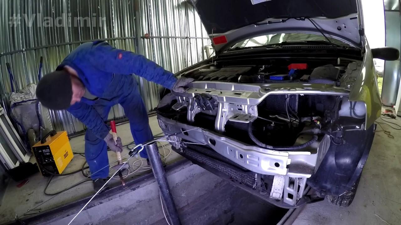 Бюджетный Кузовной РЕМОНТ АВТО. Первый опыт рихтовки: Fiat Punto АКПП. Обзор планов на БАРКАС.