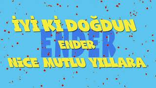 İyi ki doğdun ENDER - İsme Özel Ankara Havası Doğum Günü Şarkısı (FULL VERSİYON) (REKLAMSIZ)