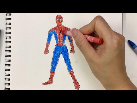 Cách vẽ Người Nhện - How to draw Spider man