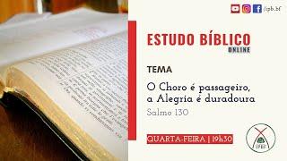 Estudo Bíblico - IP Bairro de Fátima - 20/05/2020.