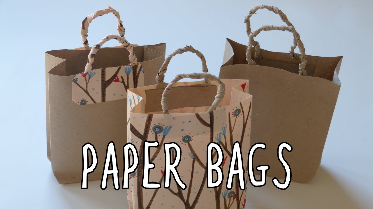 How to make a paper bag diy gift bags youtube negle