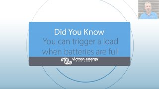 Did You Know - Trigger a dump load when your batteries are full