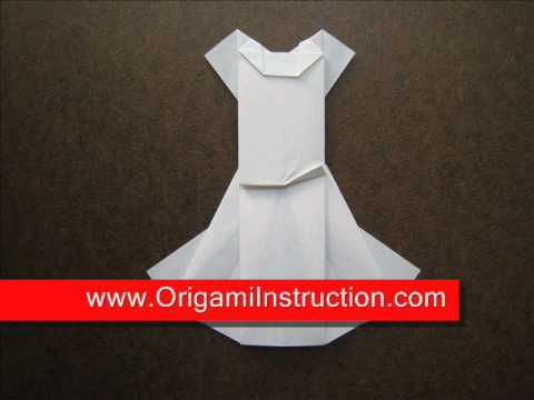 Origami Instructions Origami Wedding Dress