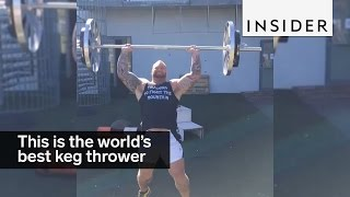 the mountain from game of thrones is the worlds best keg thrower