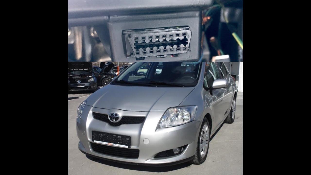 Toyota Auris 2008 Obd2 Port Location Youtube