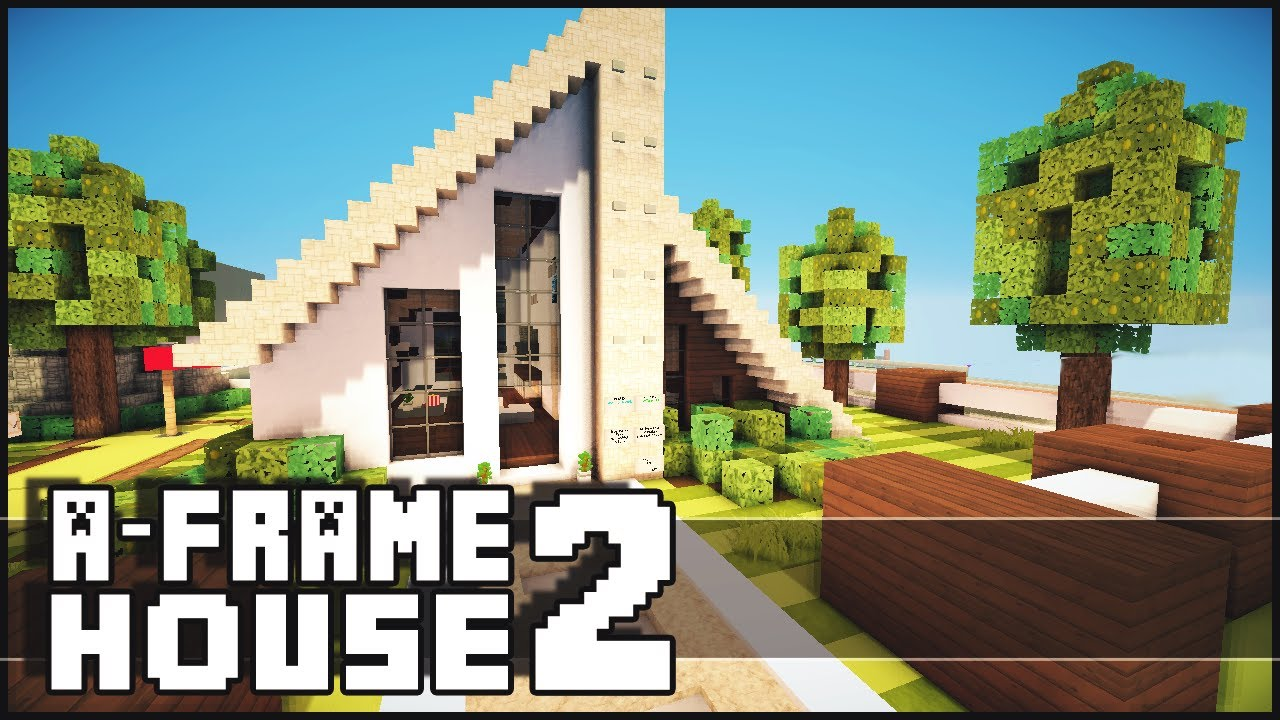 Minecraft small a frame house 2 youtube for What is an a frame house