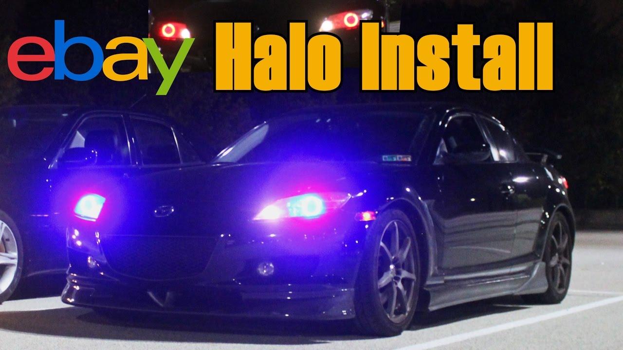 MAZDA RX8 EBAY HALOS/ANGEL EYES INSTALL - YouTube