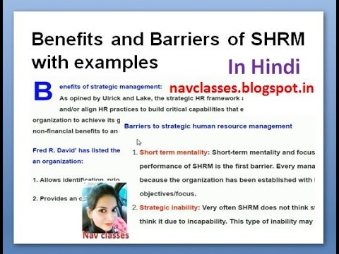 strategic human resource management shrm