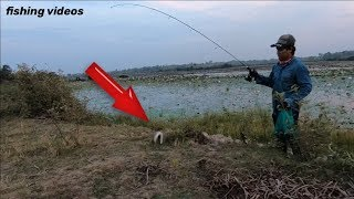 Awesome Fisherman Technique 2018 l ស្ទូចត្រីតូច នៅកំពង់ឆ្នាំង l Fishing Vlog