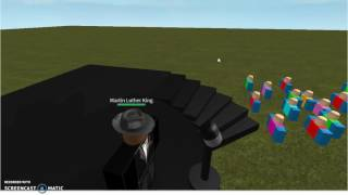 Martin Luther King I have a dream in roblox