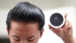 Crowne & Combes Black Wax Pomade Review -- Buttery Wax