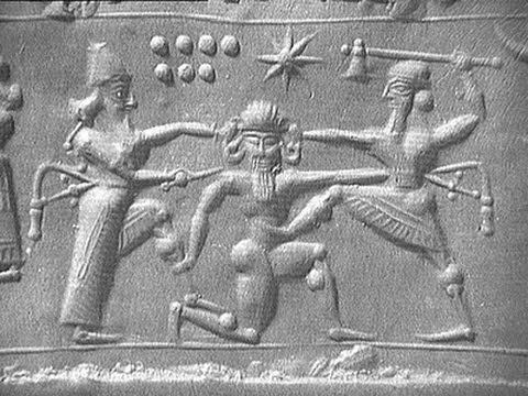 6 TAVOLETTA ENUMA ELISH: Creazione dell'uomo; Gli Anunnaki costruiscono Babilonia.