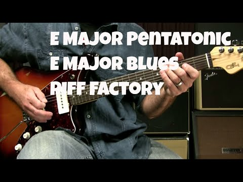 Blues Rhythm - Major Pentatonic/Blues Scale Riff In E for 12 Bar Blues In E Rhythm