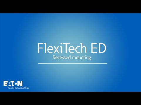 FlexiTech ED & SE - How to recess the luminaire ?