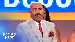 Denischia has Steve Harvey licking his lips! | Family Feud