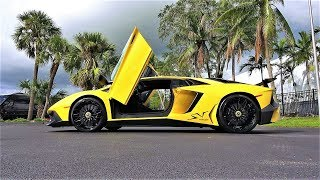 Lamborghini Aventador SV LP 750-4 Superveloce Start Up Revs Interior Exterior at Lamborghini Miami