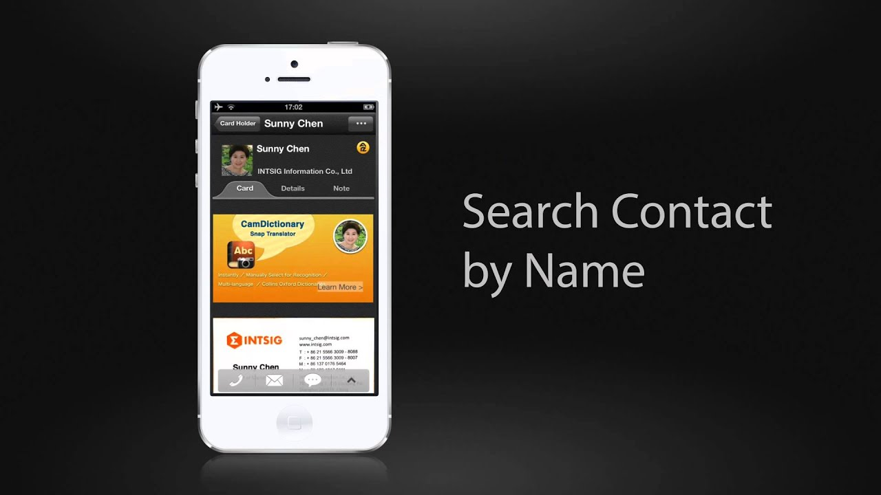 camcard 4 2 for ios how to video youtube