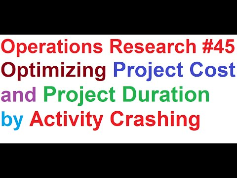 Operations Research Tutorial #45: Network Analysis #13_Project Optimization by Activity Crashing