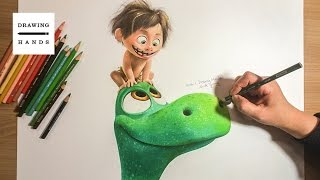 Speed Drawing Arlo & Spot - The Good Dinosaur [Drawing Hands]