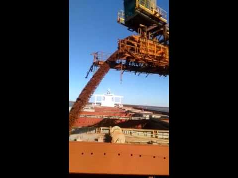 Iron ore loading on a cape size ship