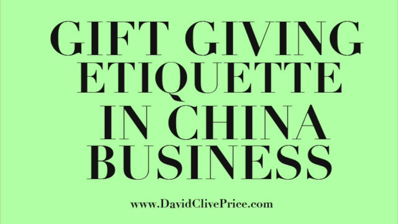 International Gift Giving Etiquette - China