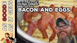 Ninja Foodi Bacon and Eggs