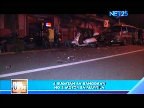 Motorcycle accident in Tondo,Manila
