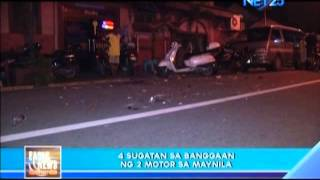 Motorcycle accident in Tondo,Manila