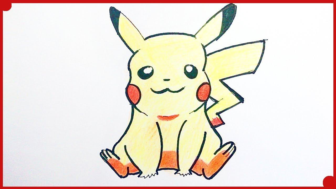 Dibujos A Lapiz De Color Faciles: Como Dibujar A Pikachu Paso A Paso Con Rotulador Y Lapices
