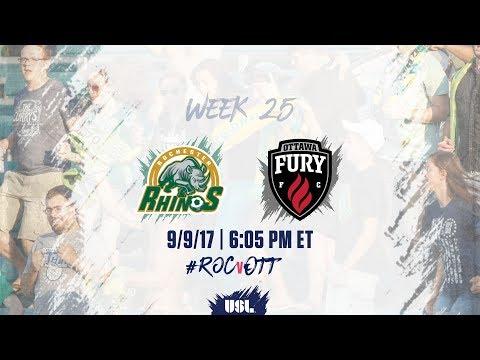 USL LIVE - Rochester Rhinos vs Ottawa Fury FC 9/9/17