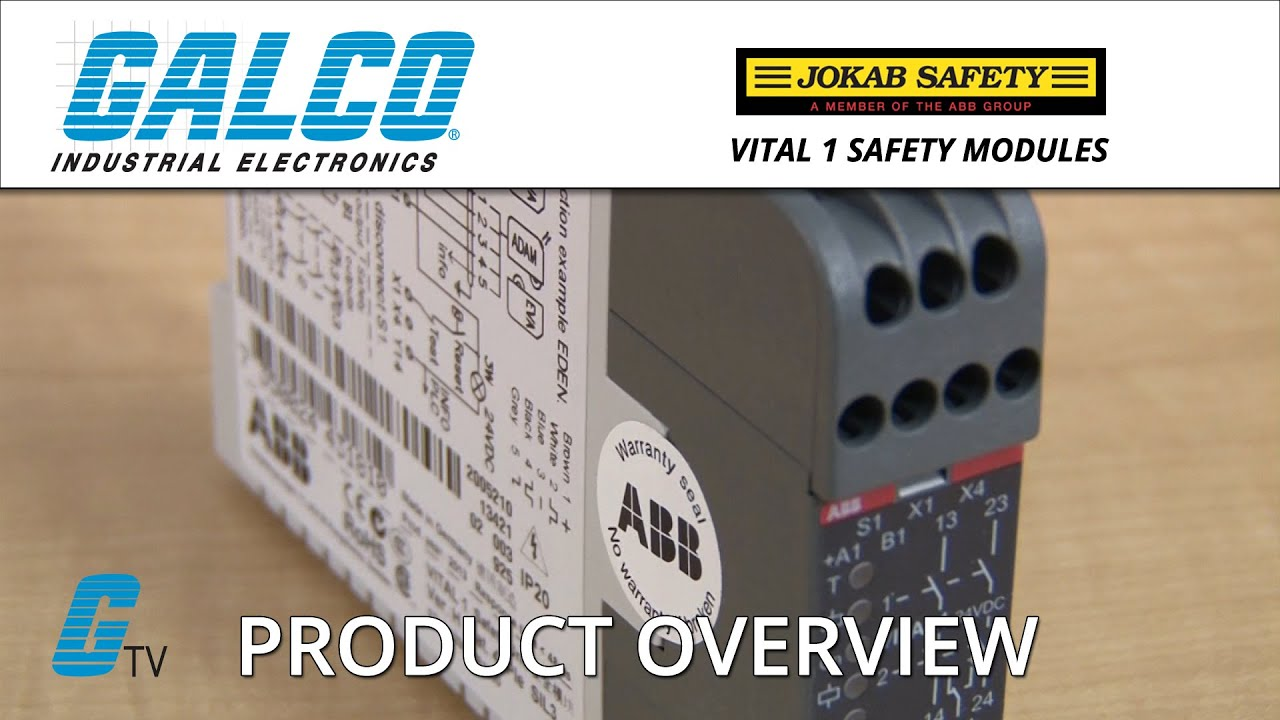 ABB Jokab Safety Vital 1 Safety Modules - A GalcoTV Overview on