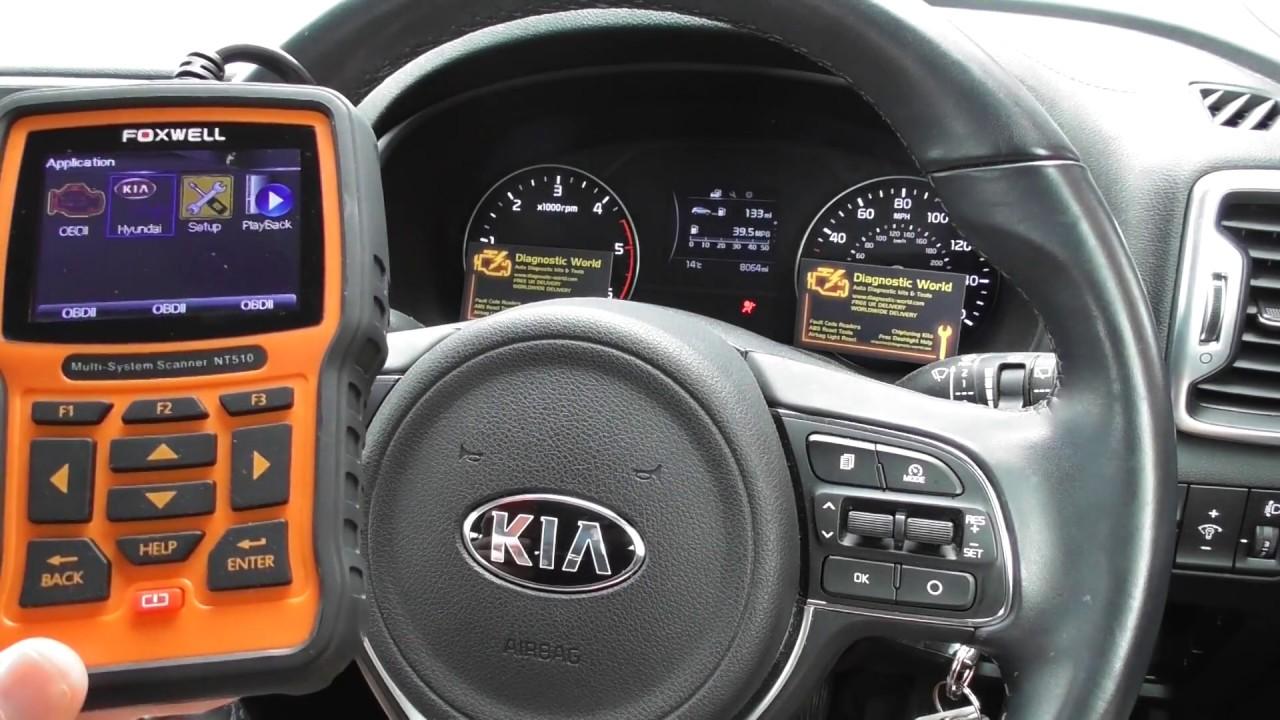 Kia Airbag Light Reset NT510 Diagnostic World