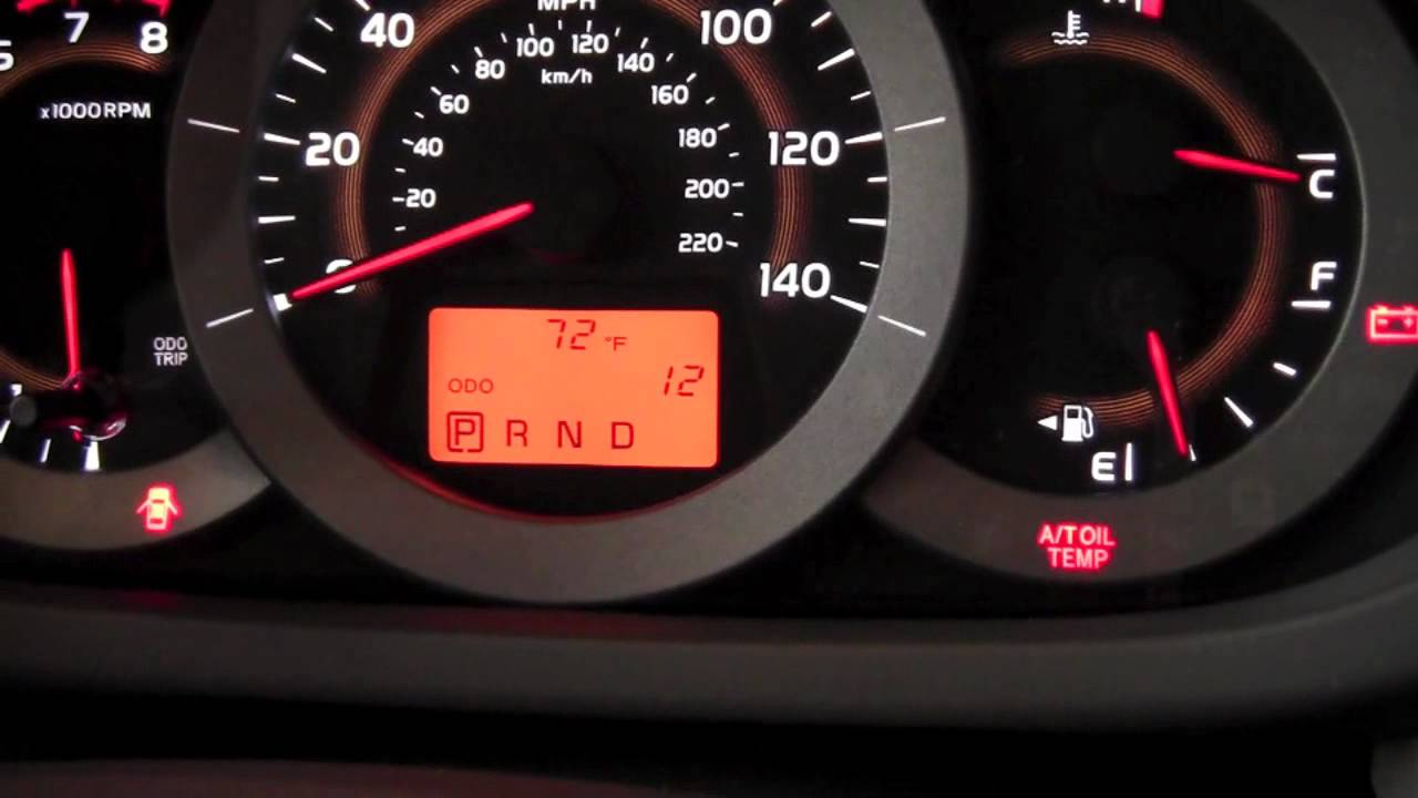 Toyota Highlander Owners Manual: Outside temperature display
