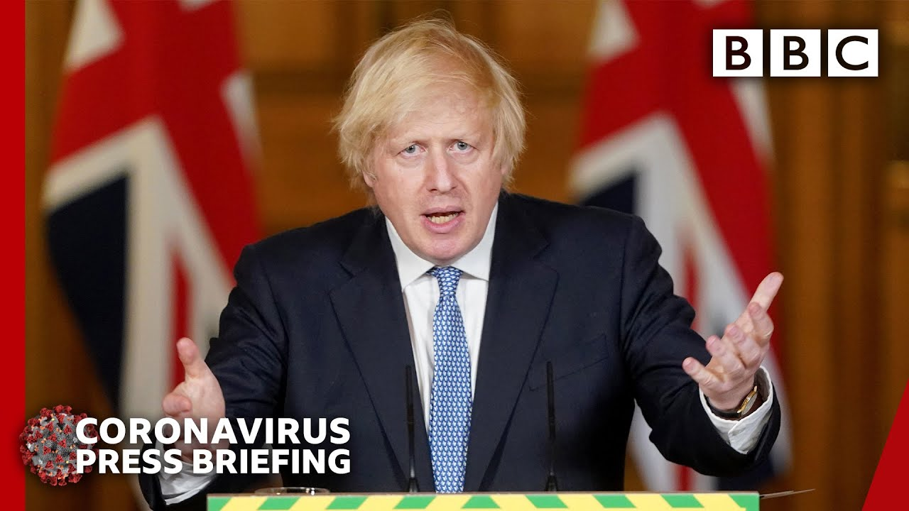 'Not out of the woods', Boris Johnson warns as lockdown eases - Covid-19 Government Briefing 🔴 BBC