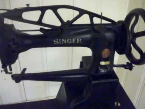 40 Singer 4040 Leather Sewing Machine Treadle For Sale YouTube Inspiration Singer Sewing Machine For Leather