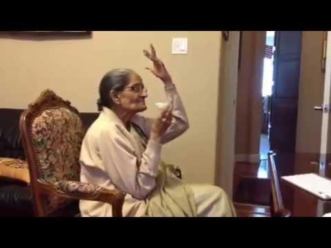Ammi watching Iqbal Ashar on You Tube