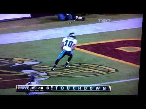Michael Vick 88 yard touchdown pass to DeSean Jackson 11/15/10