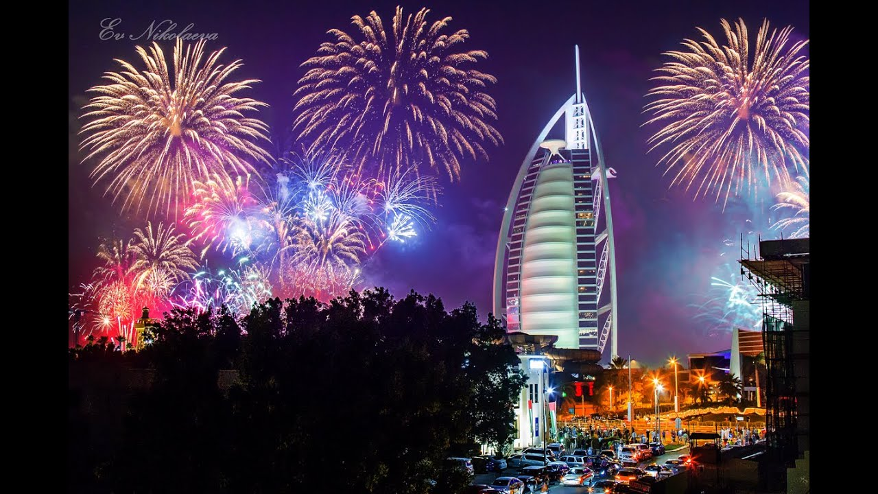 New Year Eve 2015 Burj Al Arab Fireworks Dubai UAE - YouTube