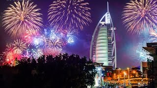 New Year Eve 2015 Burj Al Arab Fireworks Dubai UAE