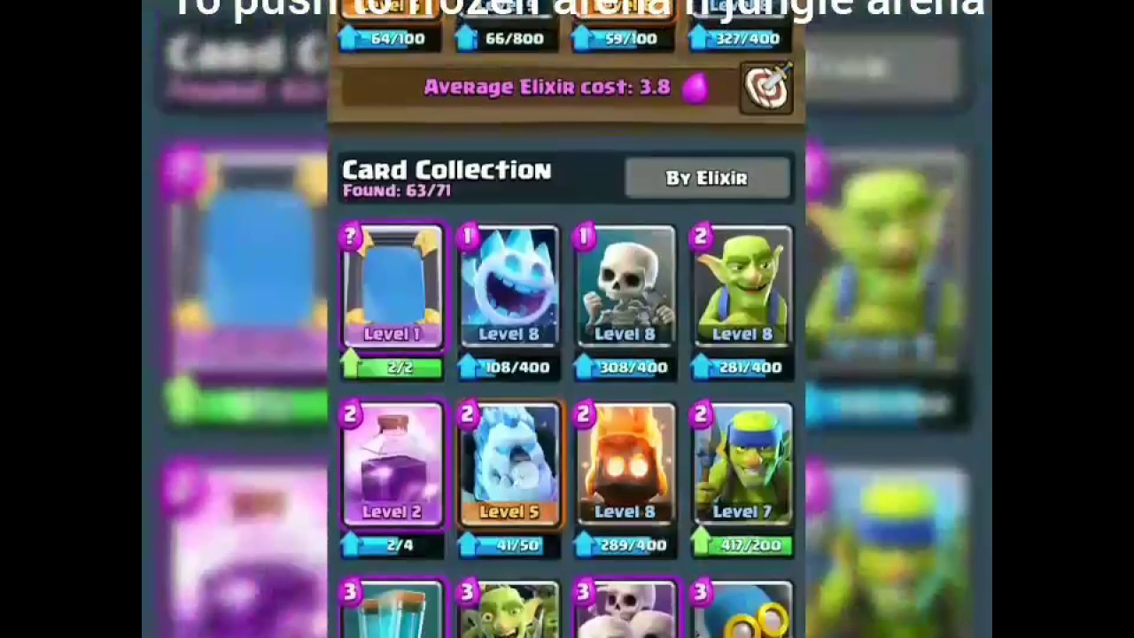 Clash Royale Best Deck To Push To Frozen Peak And Jungle