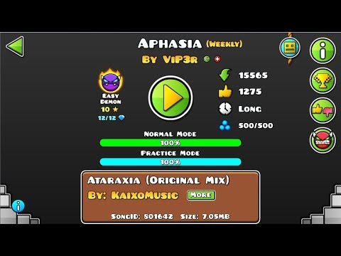 """[GD] """"Aphasia"""" By ViP3r (Weekly Demon) 
