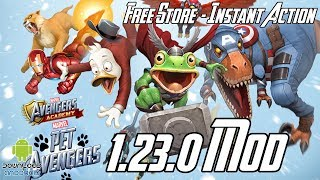 MARVEL Avengers Academy 1.23.0 Mod (Free Store, Instant Action, Free Upgrade) APK & iOS
