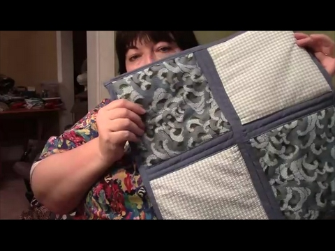 How to Quilt As You Go (QAYG) with Sashing and Self Binding ... : sew as you go quilts - Adamdwight.com