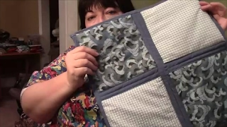 How to Quilt As You Go (QAYG) with Sashing and Self Binding - Sewing Tutorial
